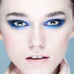 Niebieski makijaż smoky eyes w chłodnych barwach Kraków Katarzyna Zielińska